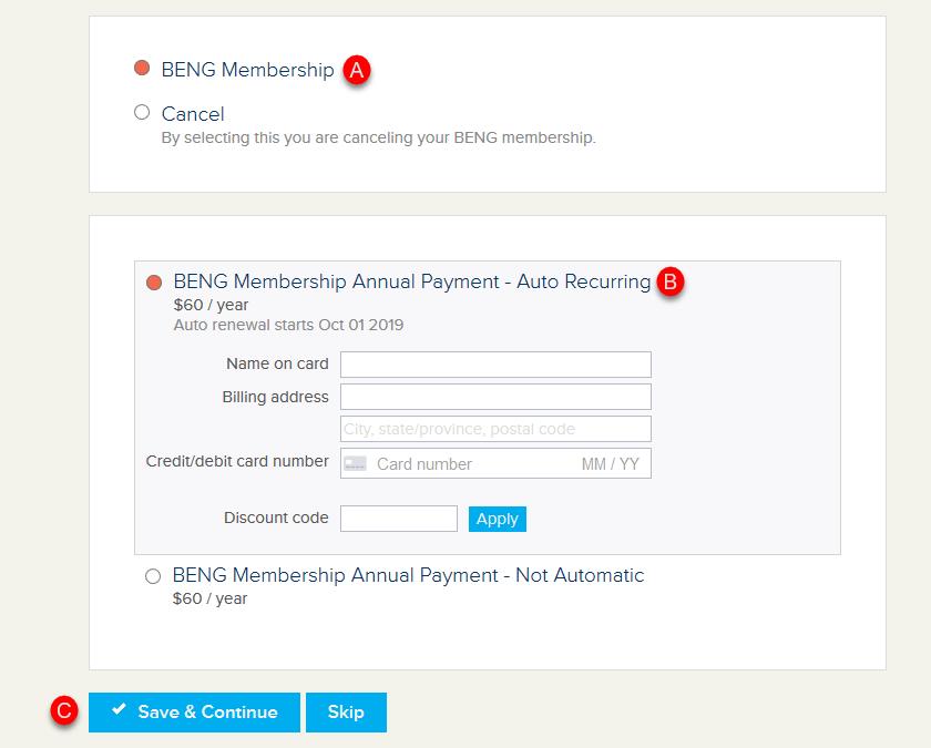 How to Renew BENG Membership
